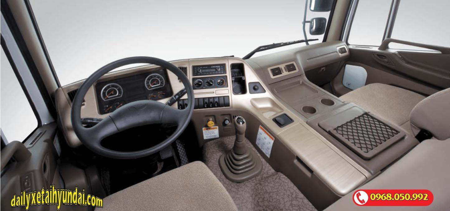 Nội thất xe tải Daewoo 15 tấn