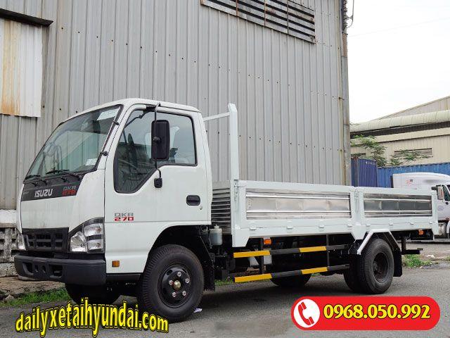 Xe tải Isuzu 2t4 thùng lửng