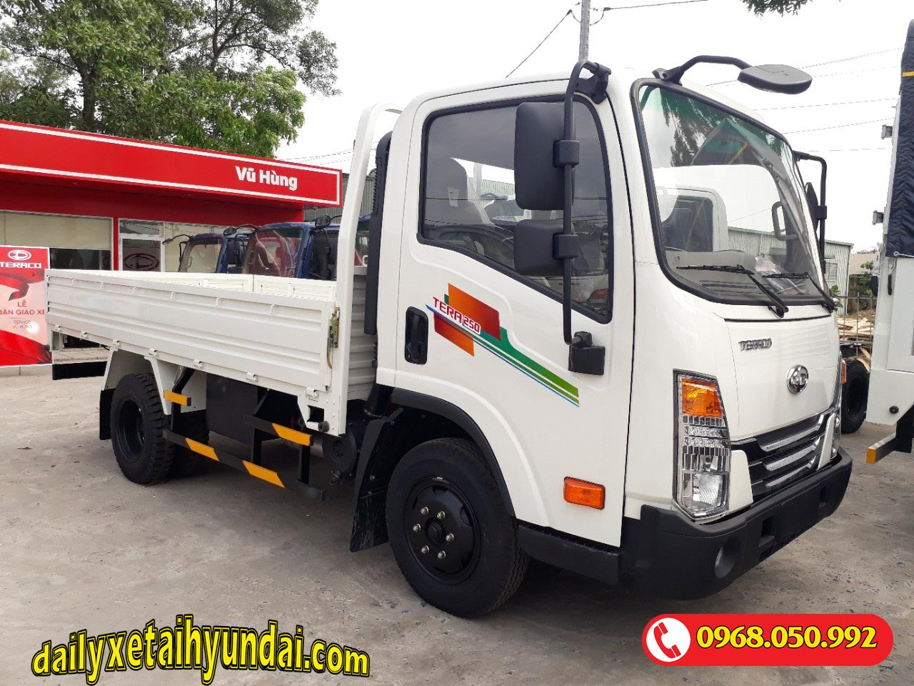 Xe tải tera 250 thùng lửng