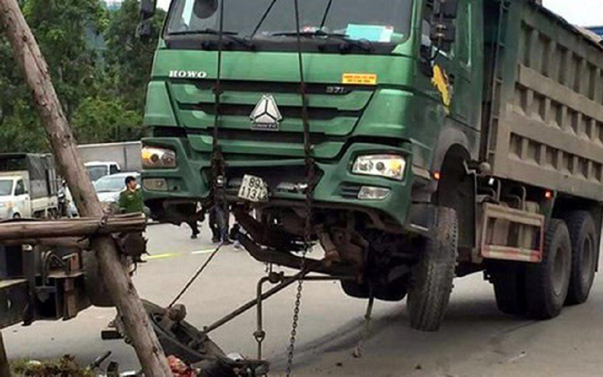 xe tải cũ đã từng gây tai nạn